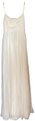 Jay Ahr Ecru Silk Dress for Women