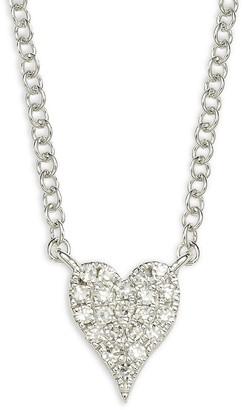 Saks Fifth Avenue 14K White Gold 0.05 TCW Diamond Heart Necklace