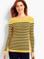 Talbots Marie Stripes Shoulder-Button Sweater