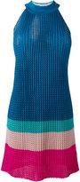 Diesel knitted halterneck dress - women - Polyester/Rayon - M