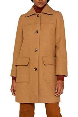 Esprit Women's 099ee1g039s Coat, (Black 001), Large