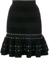 Alexander McQueen eyelet embellished mini skirt - women - Polyamide/Polyester/Spandex/Elastane/metal - XS