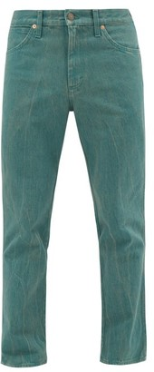 Gucci Band-logo Straight-leg Jeans - Mens - Green