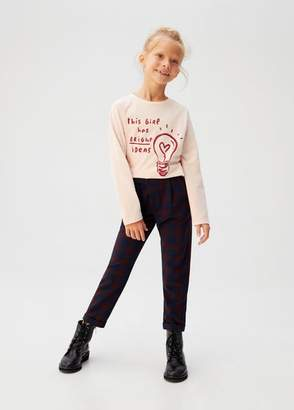 MANGO Printed message t-shirt light pink - 5 - Kids
