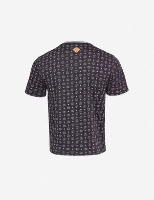 MCM Logo-print cotton-jersey T-shirt