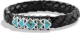 David Yurman Frontier Bracelet in Black with Turquoise