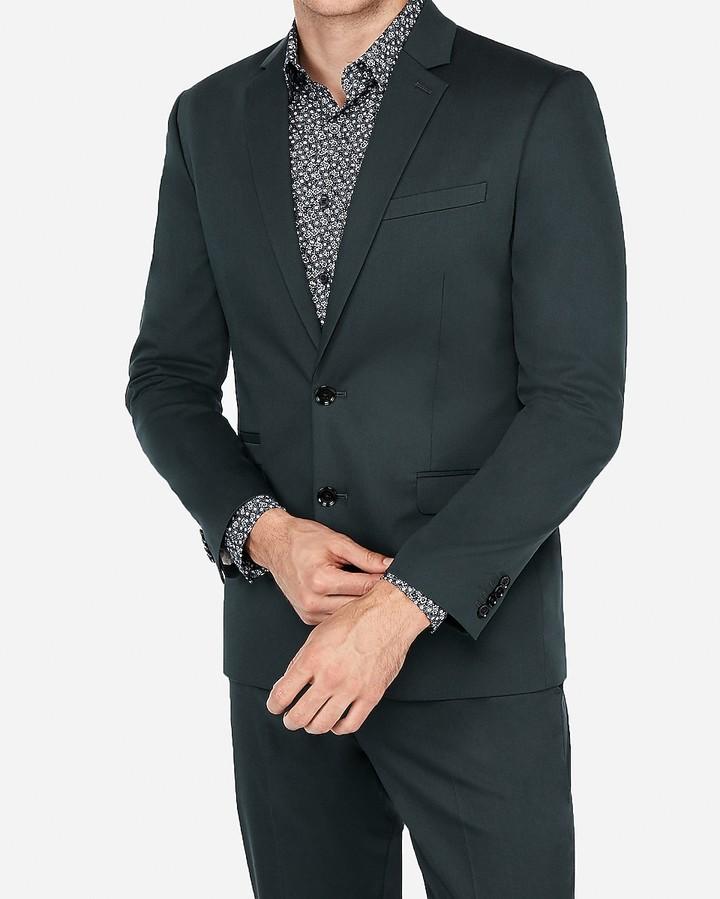 Express Slim Cotton Sateen Stretch Suit Jacket