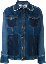 McQ by Alexander McQueen oversized denim jacket - women - Cotton - 38