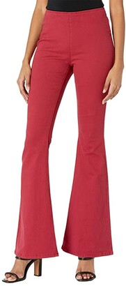 Rock and Roll Cowgirl Mid-Rise Pull-On in Scarlet WPH6120 (Scarlet) Women's Jeans
