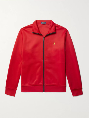 Polo Ralph Lauren Piped Logo-Embroidered Tech-Jersey Track Jacket - Men - Red