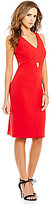 Gianni Bini Harper Crepe Sleeveless Cut-Out Sheath Dress