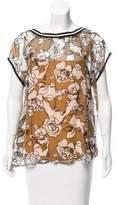Liviana Conti Floral Print Silk Top w/ Tags