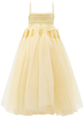 Molly Goddard Savannah Hand-smocked Tulle Dress - Cream