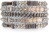 Nakamol Freshwater Pearl Beaded Wrap Bracelet