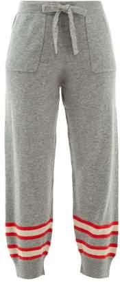 Allude Stripe-intarsia Wool-blend Track Pants - Womens - Grey Multi