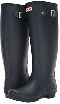 Hunter Tall Wide Leg Rain Boots (Black) Women's Rain Boots