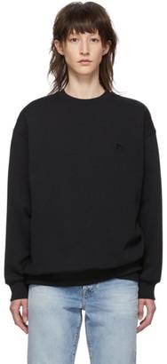Acne Studios Black Oversized Patch Sweatshirt