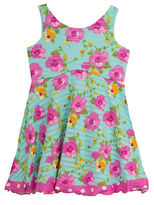 Rare Editions Girls 2-6x Floral Knit Dress