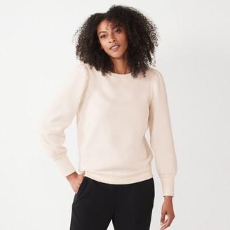 Nine West Women's Puff Sleeve Sweatshirt