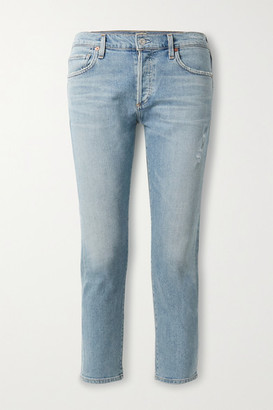 Citizens of Humanity Emerson Cropped Slim Boyfriend Jeans - Mid denim