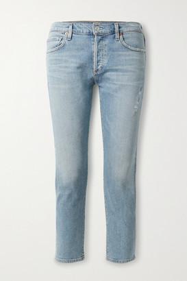 Citizens of Humanity Emerson Cropped Slim Boyfriend Jeans - Mid denim