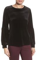 Halogen Women's Blouson Sleeve Stretch Velvet Top