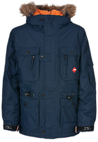 Trespass Avalanche Elevate Hooded Parka Jacket, Navy