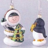 Hallmark GLASS - FROSTY FRIENDS 1998 Ornament QBG6907