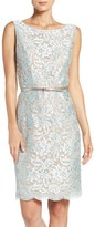 Ellen Tracy Women's Sequin Lace Sheath Dress