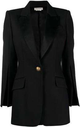Alexander McQueen Slit Sleeves Fitted Blazer