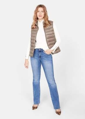 MANGO Violeta BY Quilted zipper gilet medium brown - XS - Plus sizes