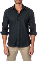 Jared Lang Long Sleeve Solid Semi-Fitted Shirt