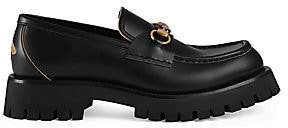 Gucci Men's Leather Lug Sole Horsebit Loafer