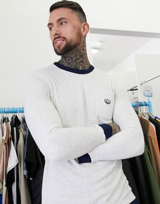 adidas premium Samstag long sleeve t-shirt in off white