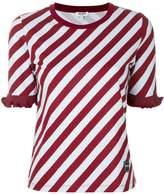 Kenzo striped ruffle trim T-shirt