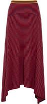 Stella McCartney Asymmetric Striped Cotton-jersey Skirt - Red