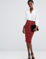 French Connection Canyon Sands Cotton Pencil Skirt