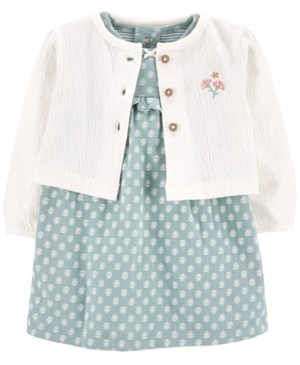 Carter's Baby Girl 2-Piece Bodysuit Dress & Cardigan Set