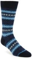 Pantherella Fenton Fair Isle Cashmere Blend Socks
