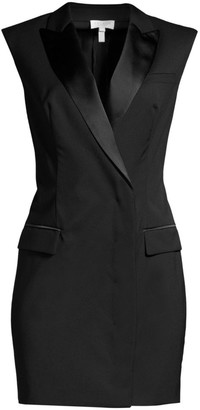 Escada Sport Stretch Wool Tuxedo Mini Dress
