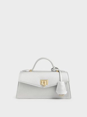 Charles & Keith Top Handle Trapeze Bag