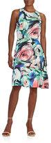 Donna Morgan Swirl A-Line Dress
