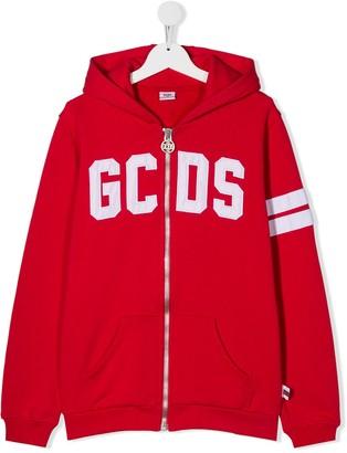 Gcds Kids Logo Zip-Up Hoodie