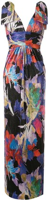 Rebecca Vallance Belladonna abstract-print maxi dress
