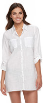 Apt. 9 Women's Roll-Tab Slubbed Cover-Up