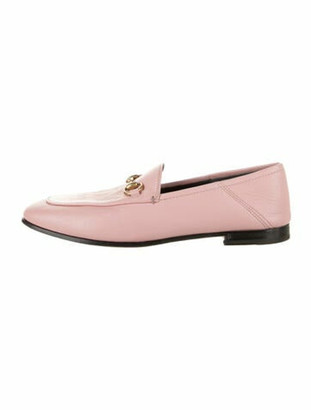 Gucci Horsebit Accent Leather Loafers Pink