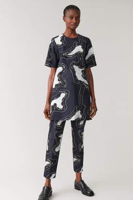 Cos PRINTED T-SHIRT DRESS