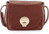 Kooba Claude Small Saddle Bag, Brown Metallic