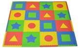 Tadpoles 16pc Playmat Set-First Shapes - Primary