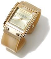 RJ Graziano Resin Cuff Bracelet Watch